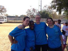 Staff and volunteers at the GetOn sportsweek 2013