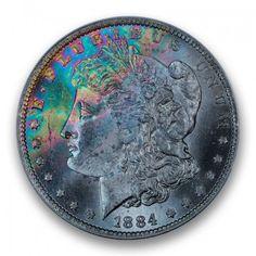 1884-O Morgan Dollar PCGS MS64 CAC #LSRC #PCGS #CAC #MORGAN #RAINBOW