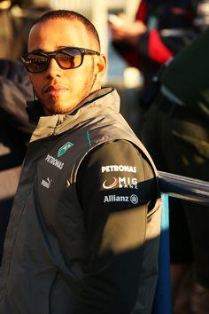 Lewis Hamilton, Driver, Mercedes AMG Petronas F1 Team, Test Day 1, Jerez, Spain