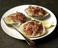 """Classic Clams Casino"" Photo: by Leslie Pendleton from Fine Cooking Issue 113"