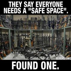 "They say everyone needs a ""safe space"". Found one!"