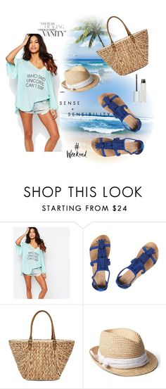 """""""Beach"""" by evelynn-cole ❤ liked on Polyvore featuring Wildfox, Dorothy Perkins, Straw Studios, Gap and Givenchy"""