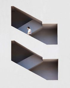 Via thehardt Something I really Love about this. Obviously has something to do with the impossible symmetry and simplicity. I can't stand posting anything without some sort of background on it, but this is too Location Unknown, Architect Unknown, Image by Serge Najjar. #symmetry #geometry #stairs #staircase #instadesign #photo #image