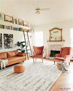 Boho Living Room, Living Room Sets, Home And Living, Living Room Furniture, Living Room Designs, Living Room Decor, Bedroom Decor, Small Living, Modern Furniture