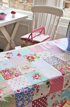 There is just something so beautiful in the simplicity of basic quilts. And they are so easy to put together.
