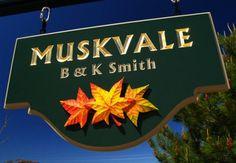 Muskvale Property Sign   Danthonia Designs