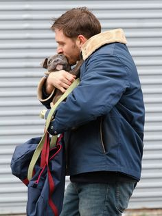 Tom Hardy AND a puppy?!  Too much adorableness for one picture
