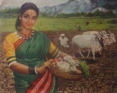 village women working saree - Google Search