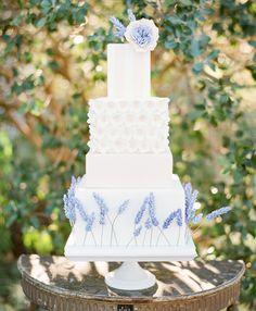 lavender and blush cake
