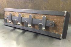 Most all of Idaho Steelworks products can be tailored for your needs. This custom Hudson coat rack went to a very happy client in Maryland. Industrial Coat Rack, Industrial Style, Industrial Design Furniture, Metal Furniture, Metal Projects, Welding Projects, House Doodle, Metal Fabrication Tools, Welding Shop