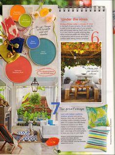 Better Homes & Gardens – November 2015 Page 22 – Amazon Crewel Cushion  Page 22 – Aquarius Stripe Cushion in Multi