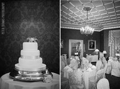 The Drawing Room set up for a wedding at the Culloden Estate and Spa