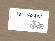 Bicycle Gift Enclosure Cards - Bicycles Built for One or Two - Bike Rider Calling Cards CardsByKooper on Etsy