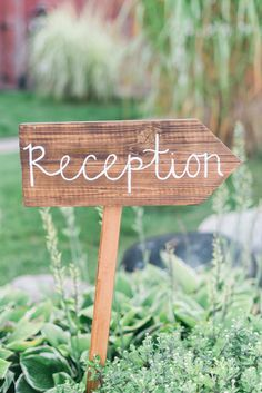 reception wedding sign