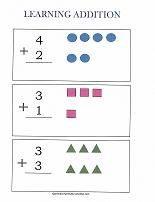 Free Addition Worksheets  Simple Addition Addition Worksheets