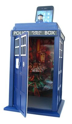 Doctor Who: TARDIS Smart Safe Store your valuables in the TARDIS, just like The Doctor! The TARDIS Smart Safe works with iPhone, iPod Touch, or Android.