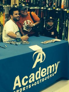 Thats me and my son with Houston Astro Jose Altuve #27. My son had already taken a picture with him and decided to join in on this pic at the last minute. We were super excited to meet him. #houstonastro#josealtuve