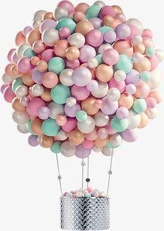 Balão de ar Quente,O balão,Cartoon,Real