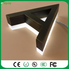 archaize stainless steel 3d company logo sign Led Backlit Channel letter Electronic Signs, Channel Letters, Open Signs, Logo Sign, Outdoor Signs, Illuminated Letters, Led, Everyday Objects, House Numbers