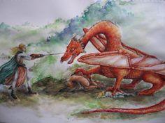 Smaug and the Elvenking by Neldor.deviantart.com