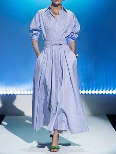 Shirtdress Outfit, Cotton Shirt Dress, Maxi Shirt Dress, Shirt Dress Pattern, Mode Outfits, Dress Outfits, Carolina Herrera, Buy Shirts, Striped Maxi Dresses