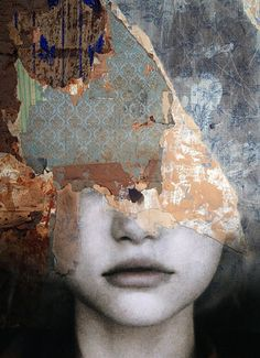"""""""Tristesse"""". Antonio Mora is a Spanish artist who combines with talent portraits photographed in various landscapes."""