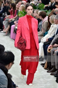Lea Holzfuss walks the runway during the Valentino show as part of the Paris Fashion Week Womenswear Fall/Winter 2018/2019 on March 4, 2018 in Paris, France.  (Photo by Peter White/Getty Images)