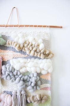 Been drooling over the woven wall hanging but don& want to shell out the dough? Visit my list of DIY tutorials and make your own custom fiber art. Loom Weaving, Hand Weaving, Weaving Art, Tapestry Weaving, Weaving Wall Hanging, Wall Hangings, Home To Roost, Hand Embroidery Designs, Embroidery Stitches