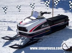 Polaris Colt snowmobile. It may be an old clunker, but it still rides really good. :)