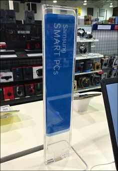 Samsung Sign Stick in Blue