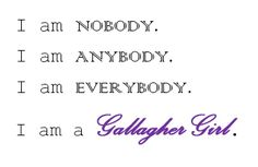 I am a Gallagher Girl Heist Society, Gallagher Girls, I Go Crazy, Jace Wayland, Fictional World, Girls Series, Girls Rules, Book Girl, Book Fandoms