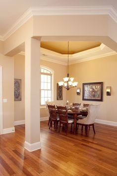 Beautiful tray ceilings and detailed crown molding