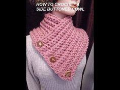 "Bufanda Cuello a Crochet con Botones ""Odet"" Tutorial por Maricita Colours - YouTube"