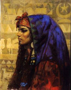 A painting feature the female beauty of Egyptian women by the Egyptian artist Abdel Aal Hassan ..