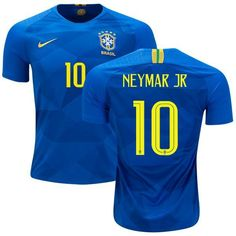 5e487662166 Men  10 Neymar Jersey Away Brazil National 2018 FIFA World Cup