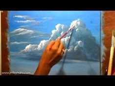 How to paint Acrylic Clouds in the Sky! A basic speed painting tutorial of a cloud. - YouTube #OilPaintingTutorial