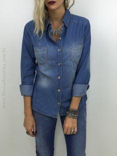 Camisa jeans - Flávia Christina