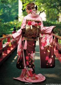 Japanese traditional dress kimono