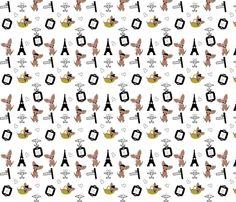 Chihuahuas in Paris fabric by kiwicuties on Spoonflower - custom fabric