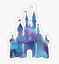 Splatter Paint Castle Sticker
