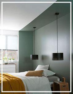Habillez vos murs autrement! Chambre Castorama vert et moutarde Peinture Colours