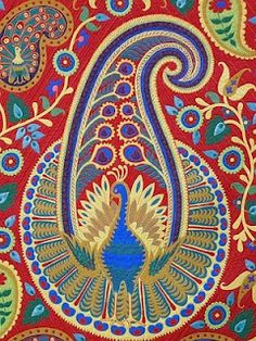 Paisley Peacock, detail
