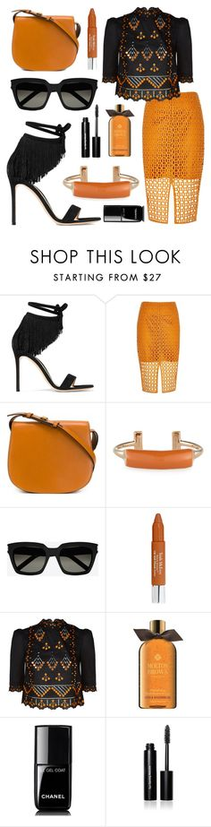"""Chic✔️"" by sanela-enter ❤ liked on Polyvore featuring Gianvito Rossi, River Island, Tory Burch, Pluma, Yves Saint Laurent, Trish McEvoy, Temperley London, Molton Brown, Chanel and Bobbi Brown Cosmetics"