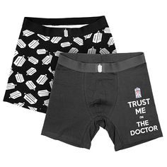 Doctor Who Logo Boxer Briefs. These would be more of a gift to me than my boyfriend, but I don't care. I love and need these