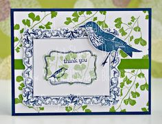 Stampin' Up! Papaya Collage, Four Frames in Gumball Green and Midnight Muse by Sweetest Designs