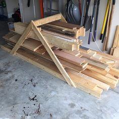 My Temporary Lumber Rack