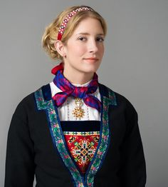 The Fana folk dress, Norway Folk Costume, Costume Dress, Costumes, Folk Clothing, Hardanger Embroidery, Bridal Crown, Norway, Scandinavian, Bergen