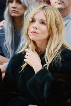 Sienna Miller. Looks like a faker version of Gail, but she has the expression down pat.