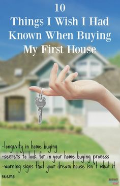 10 Things I wish I had known when buying my first house. These are things to know when buying a house with everything from longevity in home buying to spotting warning signs that your dream home isn't what you thought. Great read!
