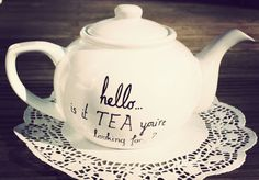 Lionel Richie teapot hand drawn by Mr Teacup  Hello is by MrTeacup, $58.00